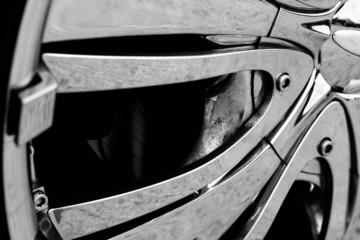 Detail photo of a car rim
