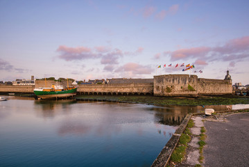 Port of Concarneau at dusk. Brittany, France.