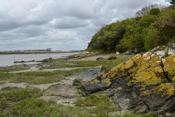 Port, Trehiguier, fleuve la Vilaine, Penestin,Morbihan, Bretagne