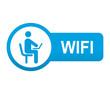 Etiqueta app lateral azul WIFI