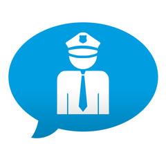 Etiqueta tipo app comentario policia