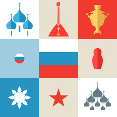 Russia. Icon set
