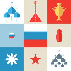 Russia. Icon set