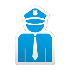 Pegatina simbolo policia