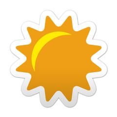 Pegatina simbolo sol