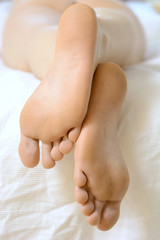 Gepflegte Fußsohlen einer Frau