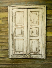 window with the closed shutters