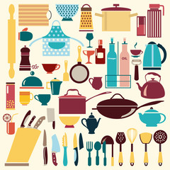 kitchenware set - Illustration