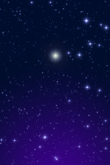 Cristmas star on a dark sky.