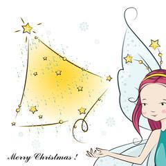 Cute Christmas fairy desiring happiness you!