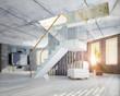 loft interior.3d cocncept