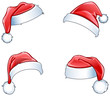 Glossy santa hats - 72187191
