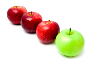 row red and green apples