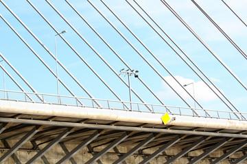 Detail from new bridge in Belgrade,Serbia