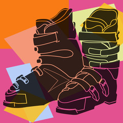 Chaussures de ski pop