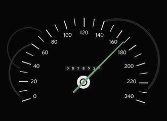 The speedometer in the dark