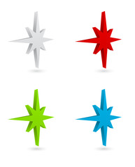 compass rose 3d icon
