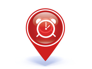 alarm pointer icon on white background
