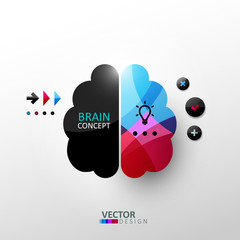 Abstract brain concept illustration