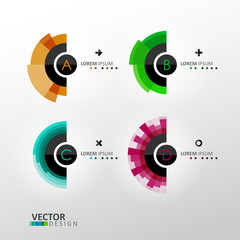 Colorful vector labels