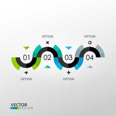 Vector infographic template in minimal style