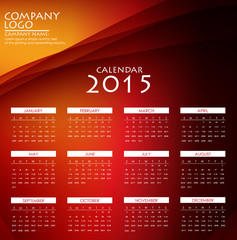 Calendar 2015. Vector Illustration