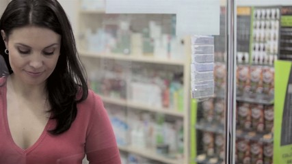 Woman at Pharmacy smiling