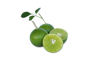 juice lime on white background