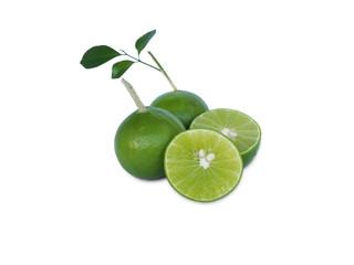 juice lime on white background