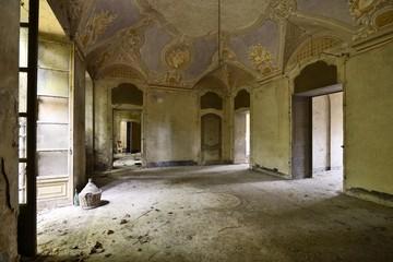 Abandoned frescoed room