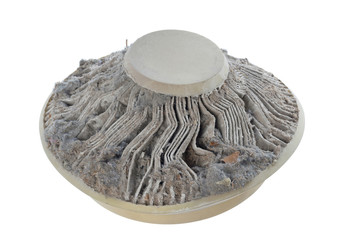 isolated clogged air filter