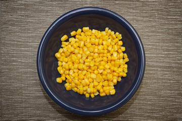 Closeup of corn in dish