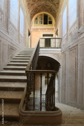 Fotobehang Trappen old abandoned stair