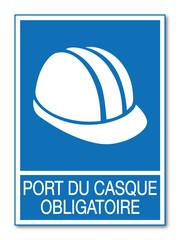 Panneau port du casque obligatoire.