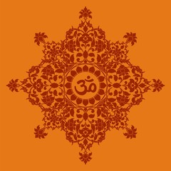 aum syllable, paisley design ,Hinduism, India