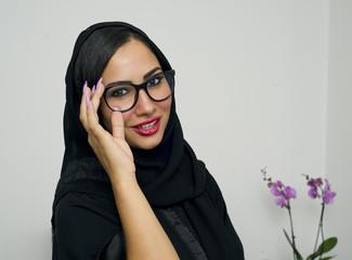 Beautiful Arabian Woman wearing Hijab