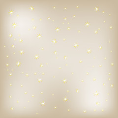 vector background with many gold stars