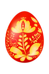 Easter egg with elements of traditional Russian painting. Design
