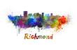 Richmond skyline in watercolor