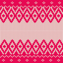 Traditional seamless knitted pattern in scandinavian style