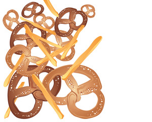 pretzels and french fries