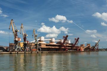 Cargo terminal of Ventspils, Latvia