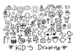 kids and children's hand drawings