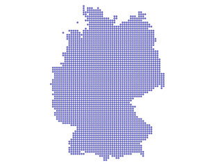 vector dotted map of germany