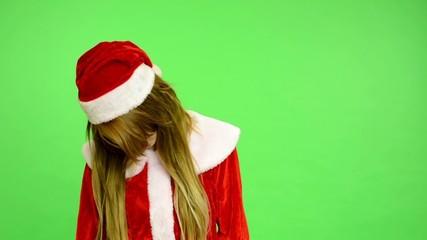 Christmas - Holidays - green screen-woman kills herself