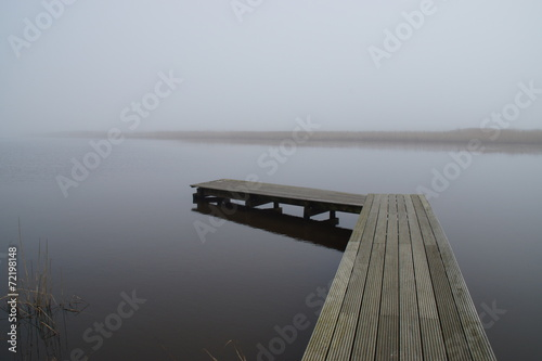 canvas print picture Ruhe am See