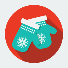 Vector mittens icon