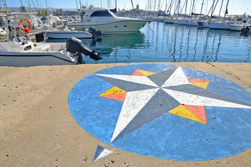 wind rose in Alghero harbor