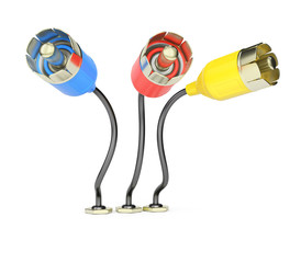Colorful connection plugs