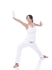 Young woman doing Tai Chi
